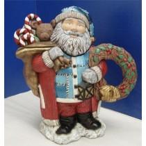 """Santa Teapot 10.5""""Tx9""""w"""