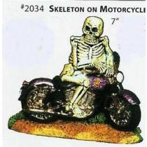 "Skeleton on Motorcycle 7"""