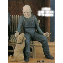 "Old Man w/Dog 7.5""T Chair/sold sep."