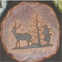 Deer Plaque/Slab 11x11""