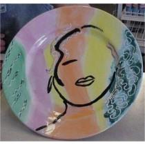 """Plate 11""""  unpainted"""