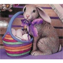 """Rabbit w/Basket 10""""T eggs Not Included"""