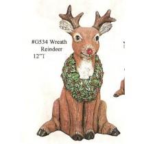 """Wreath Reindeer 12""""t"""