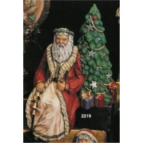 "Black Forest Shelf Santa 9.5"""