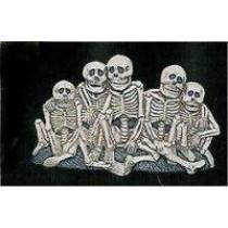 """Skeleton Family 8.75x5.25"""""""