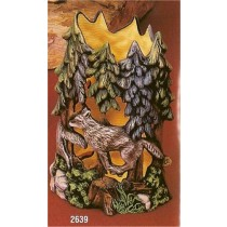 "Timber Wolf Vase Cut Out 8.5""t"