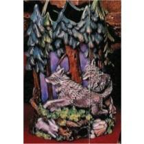 "Timberwolf Vase 8.5""t"