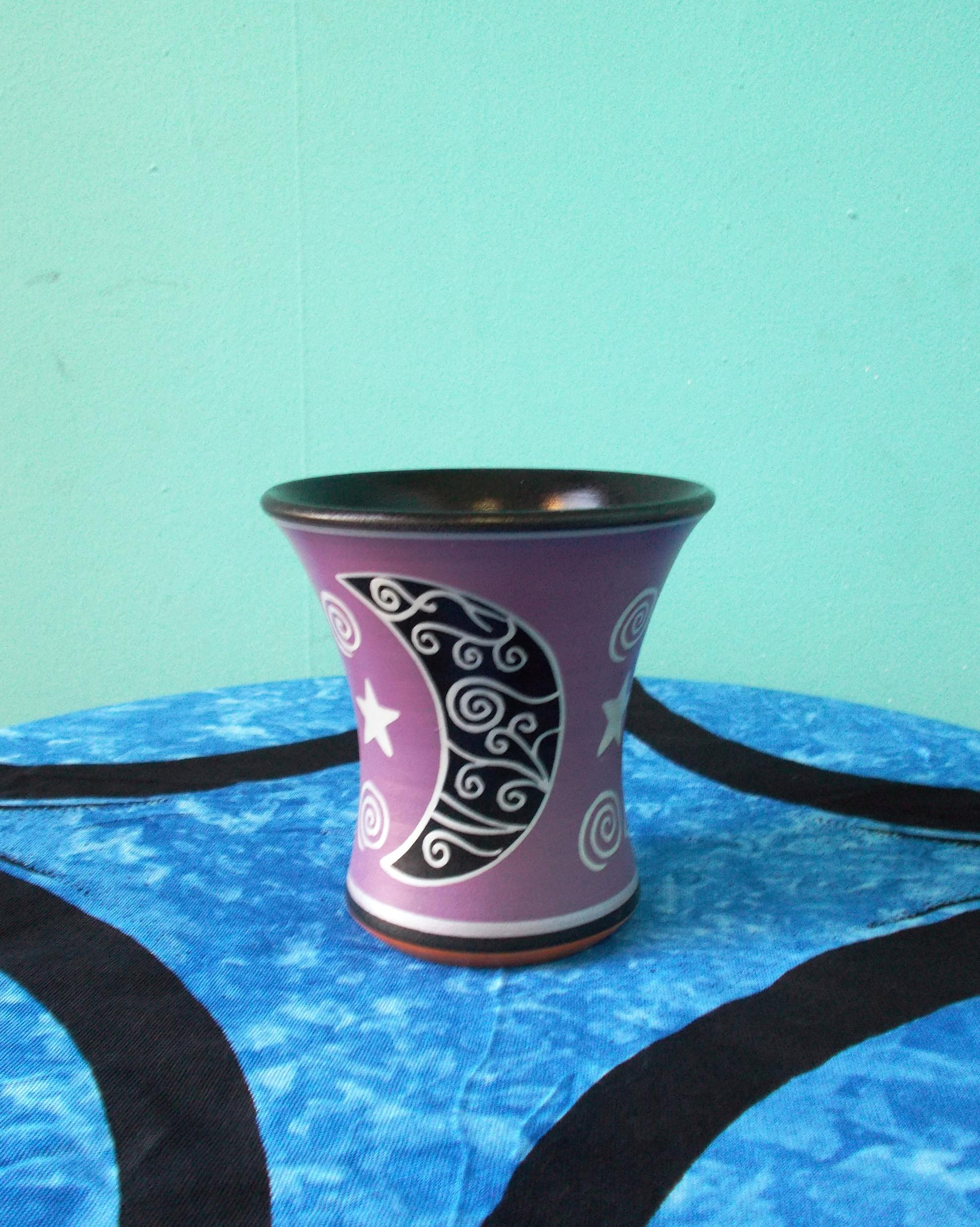 Purple Moon-Spiral Candle Holder