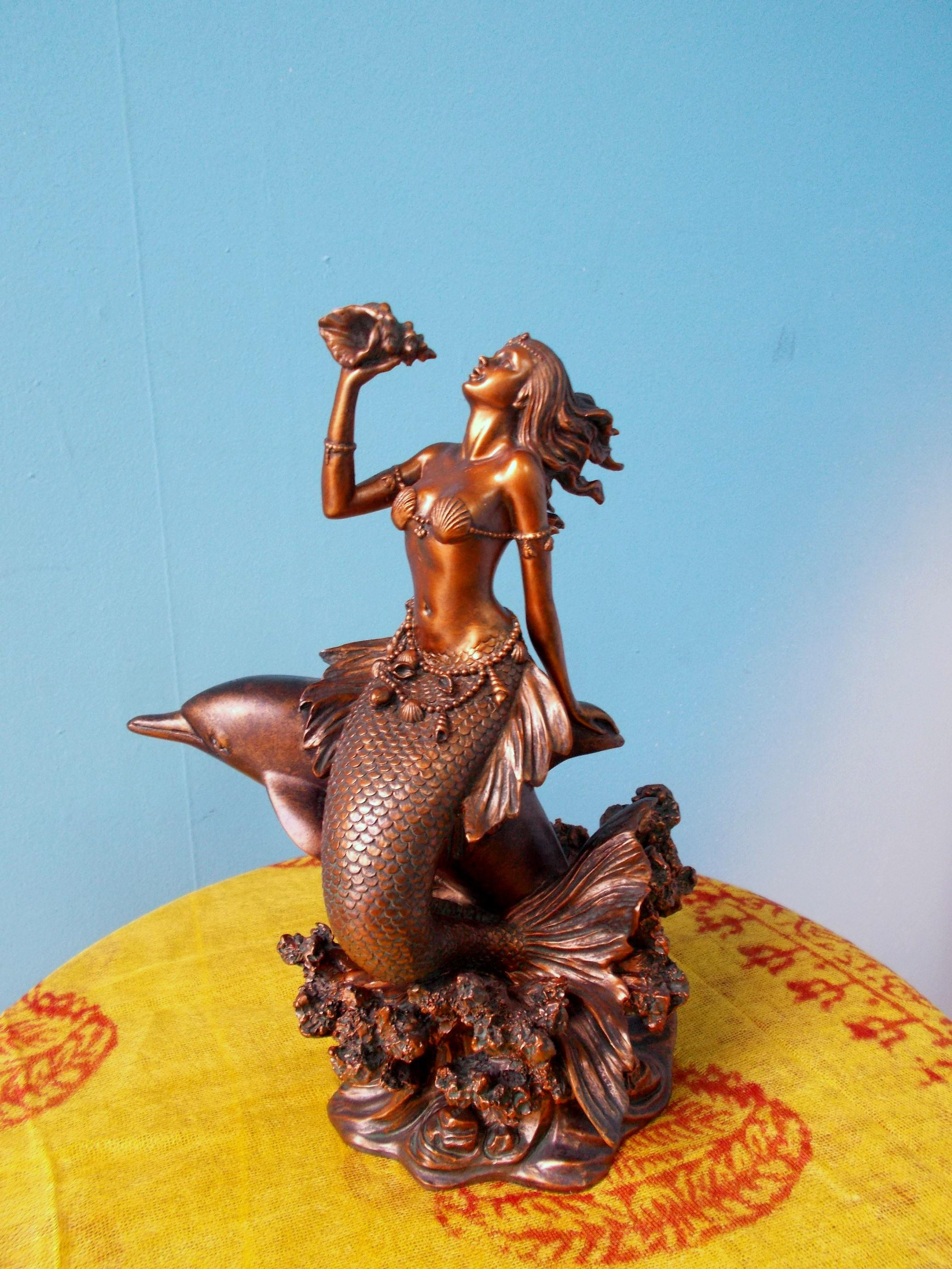 Mermaid on Dolphin
