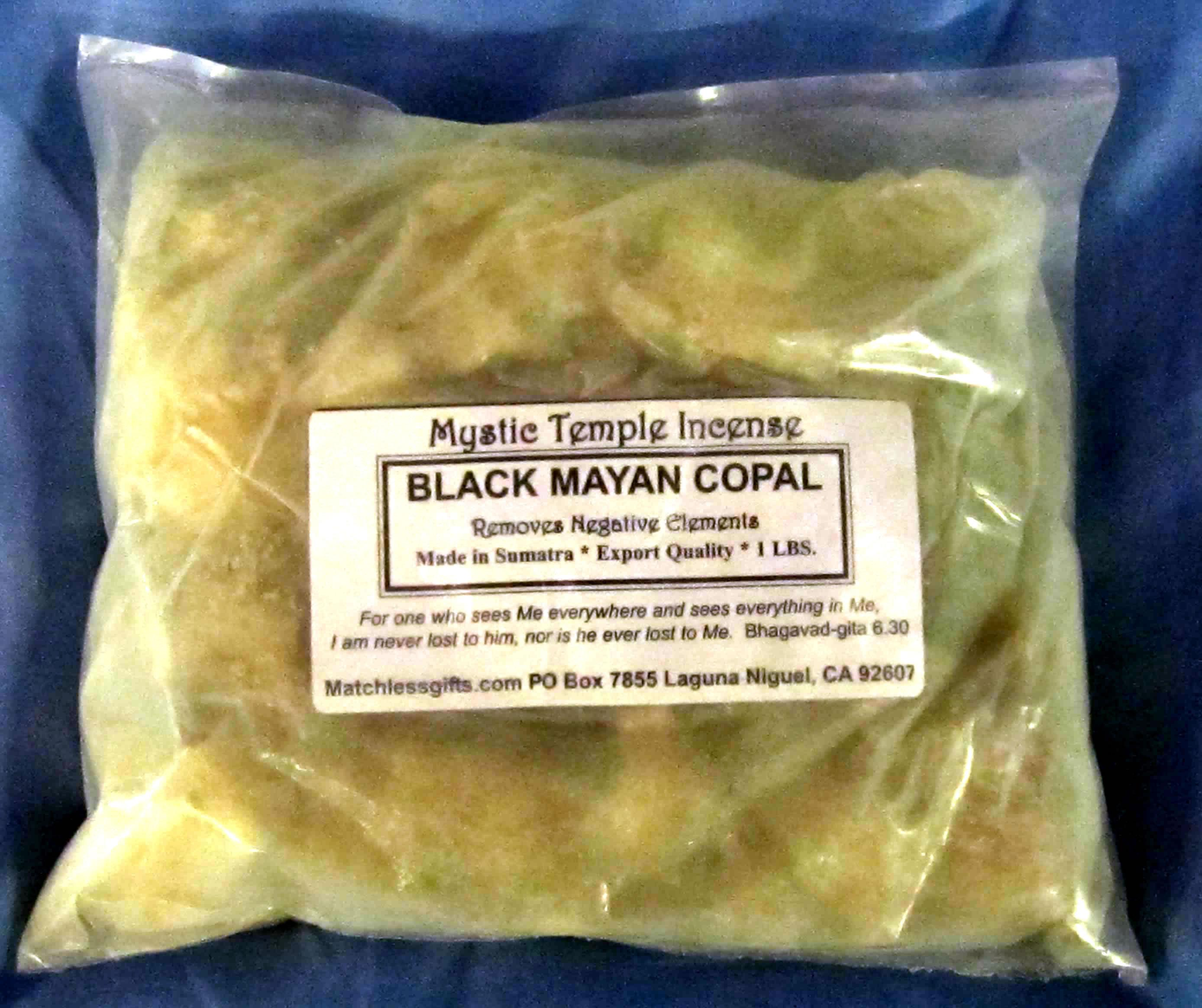 Bulk Resin - Mystic Temple Incense: Black Mayan Copal