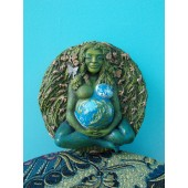 Green Gaia Wall Statue