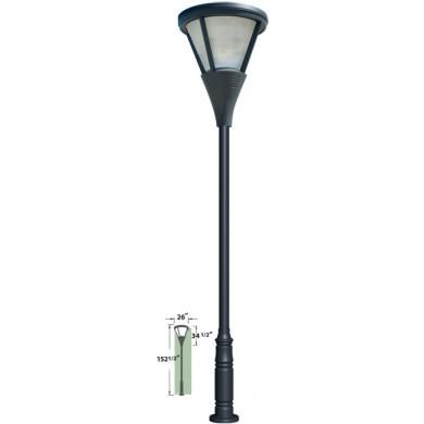 coated cast aluminum pole light parking lot lighting street light. Black Bedroom Furniture Sets. Home Design Ideas