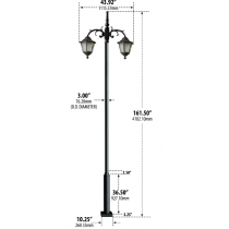 8120  Cast Aluminum LED Post Light / Parking lot lighting / Street Light