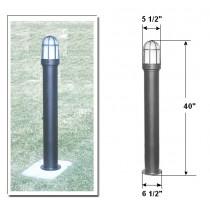 D 3100 Powder-Coated Steel Bollard Light