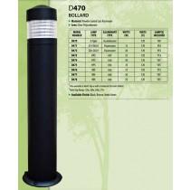 D 470 Heavy Duty Cast Aluminum Bollard Light