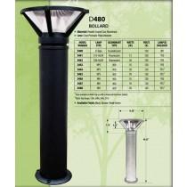 D 480 Heavy Duty Cast Aluminum Bollard Light