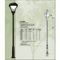 GM 5900 Powder-coated cast aluminum  Post  Light