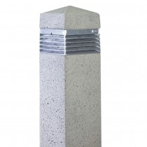 Square Concrete Bollard Light
