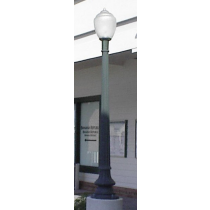coated cast aluminum post light parking lot lighting street light. Black Bedroom Furniture Sets. Home Design Ideas