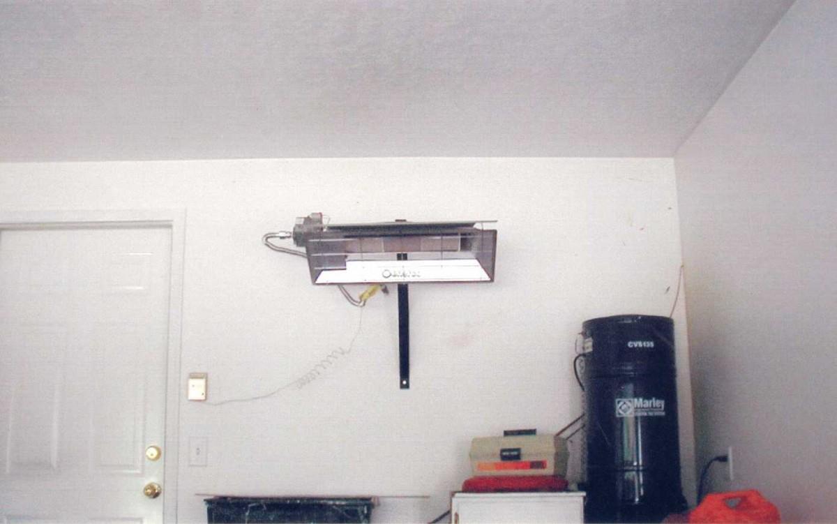 Garage shop heater enerco hs25n hs22l h25n h22l for Infrared garage heaters