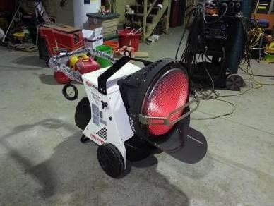 Construction Heater Hs155 Ir Diesel Fired Portable Infrared
