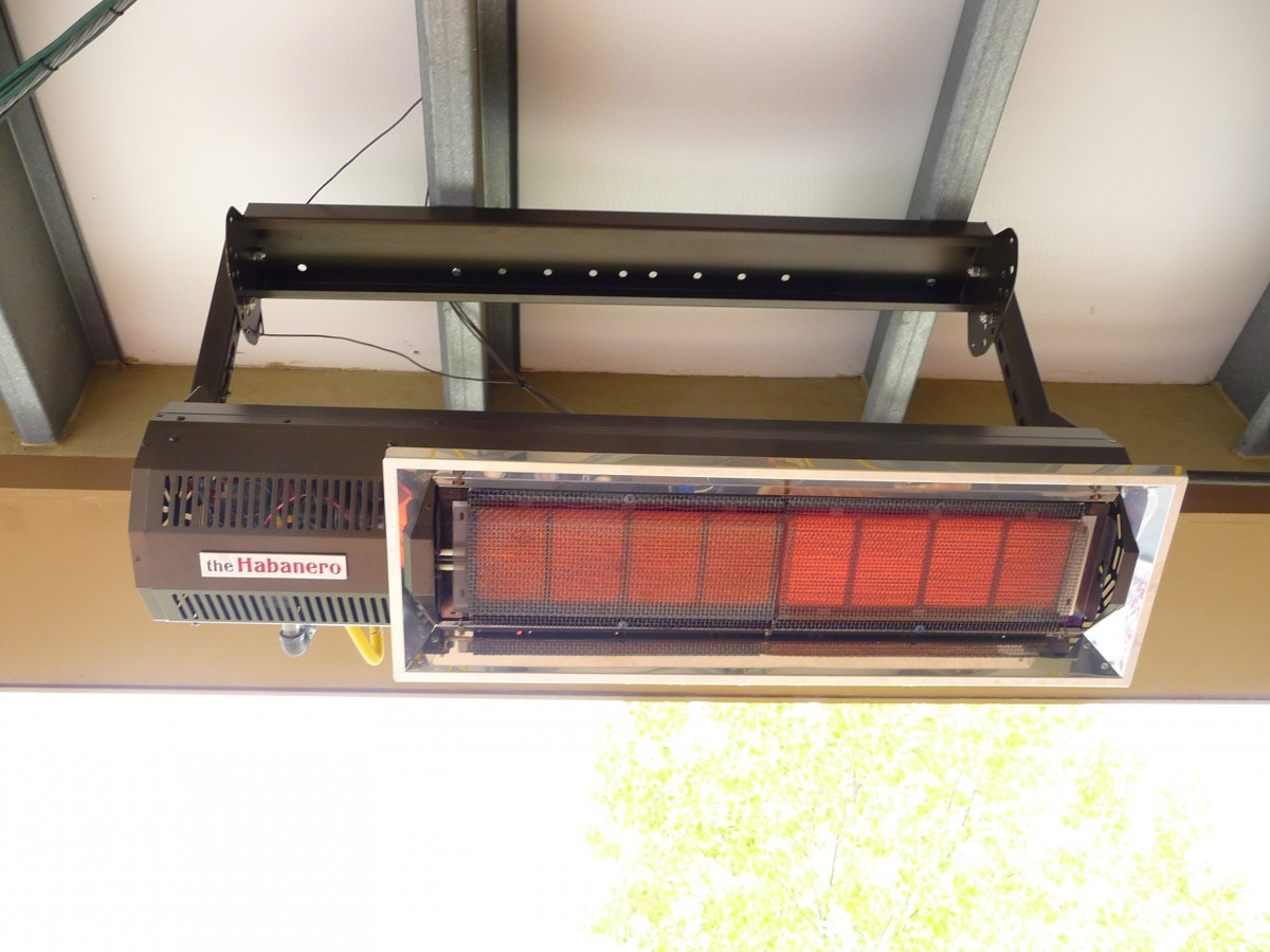 hanging patio heater. More Views. Habanero M20 Infrared Patio Heater Hanging O