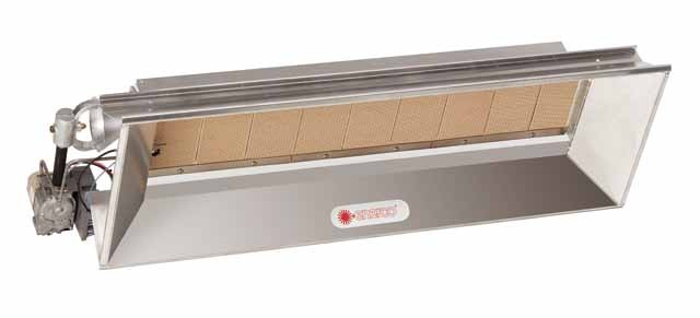 Model 8060 Overhead Infrared Vent Free Heater w/ Direct Spark Ignition