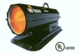 75,000 BTU Kersosene or Diesel Fired Torpedo Heater