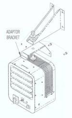 Wall Mount Bracket Diagram for HVH Heater
