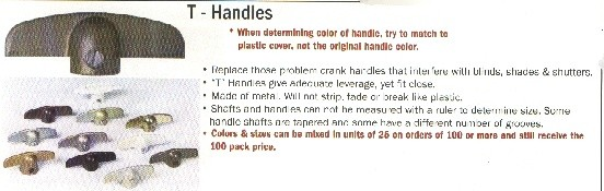 T HANDLES - ALL OTHER COLORS