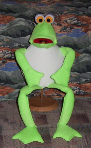 Deluxe Full Bodied Blacklight Frog Puppet
