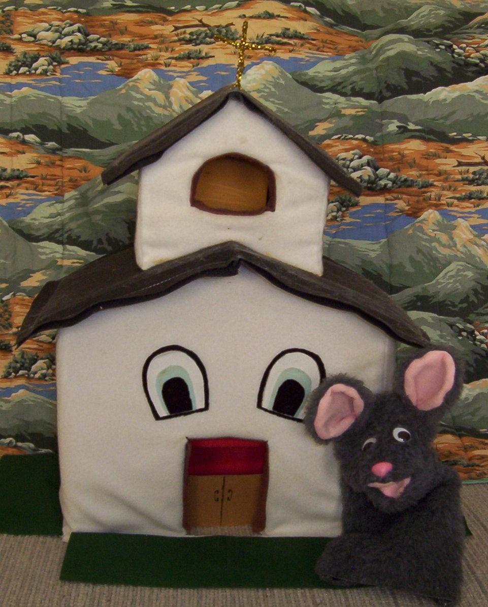 Church & Mouse Puppet Set