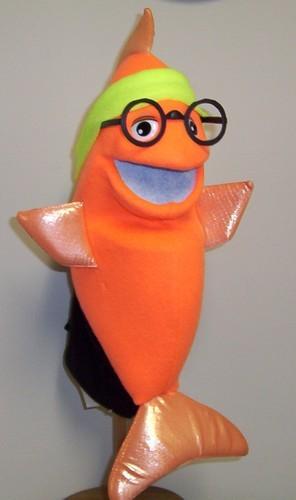 Blklt Orange Stand-up fish