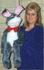 Moving mouth ventriloquist rabbit puppet