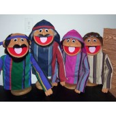 Popular Regular Biblical People Puppet Set of 4