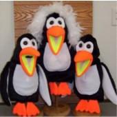Blacklight Penguin Trio Puppet Set