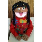 African American PR Girl Puppet