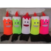 Blacklight Candle puppets