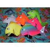 Set of 6 Blklt fish puppets