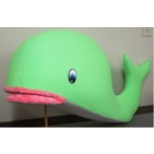 Blacklight Green Whale Puppet