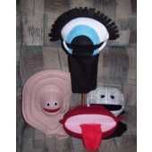 Body parts set of 4