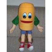 Buddy Barrel bank puppet standing