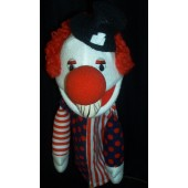 Bald clown puppet w/hat