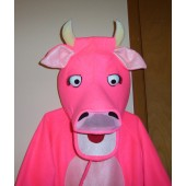 Midsize cow costume head Pink
