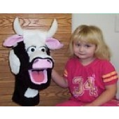 Black/white cow and Maddie