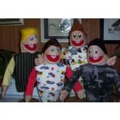 Economy Set of 4 Boy People Puppets