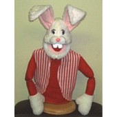 Large Economy Easter Rabbit White