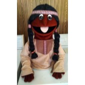 native american indian puppet