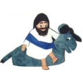 Jesus on the donkey puppet set