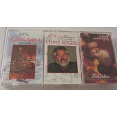 Kenny Rogers +2 Christmas music audio cassettes